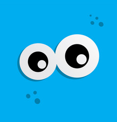 Cute adorable ugly scary funny mascot monster eye vector