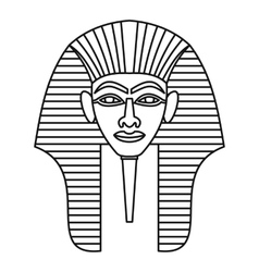 Egyptian pharaohs mask icon outline style vector image vector image