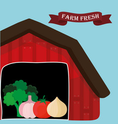 farm fresh vegetables natural health vector image vector image