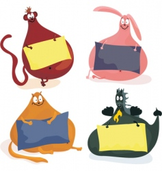 fat animals vector image vector image