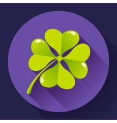 Four-leaf quatrefoil clover icon Flat design vector image