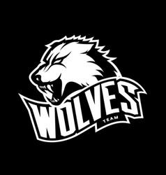 furious wolf sport mono logo concept vector image vector image