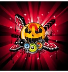 Halloween rainbow vector image vector image