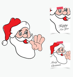 Happy new year 2017 with santa clause in colorful vector