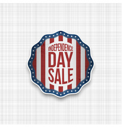 Independence day badge with usa flag vector