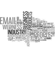 Is email advertisements a business text vector