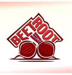 Logo for beetroot vector
