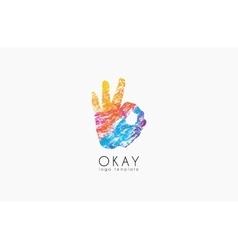 Okay logo Ok logo design Creative logo design vector image