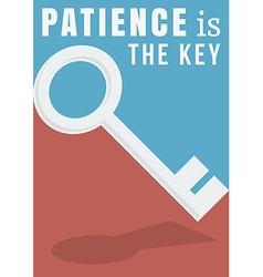 Patience poster vector