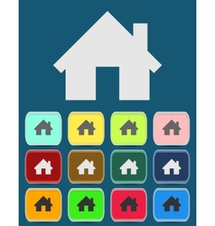 Real estate concept Small house - icon vector image vector image