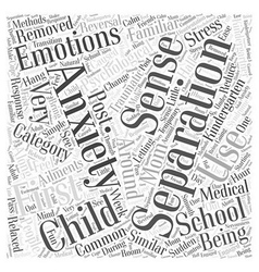 Separation anxiety and your kindergartner word vector