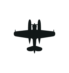 simple black Float Plane icon on white background vector image vector image