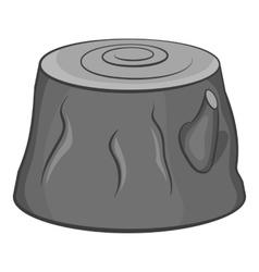 Stump icon black monochrome style vector