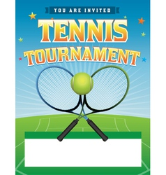 Tennis tournament flyer vector