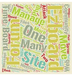 The Demise of EZBoard text background wordcloud vector image vector image