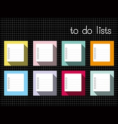to do lists long shadow vector image vector image