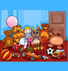 toys group cartoon vector image vector image