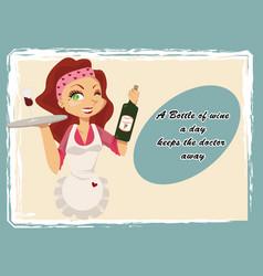 vintage wine poster vector image