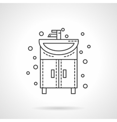 Washstand icon flat line design icon vector image vector image