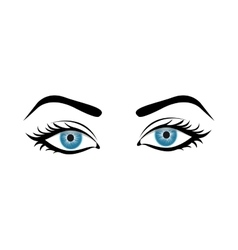Woman eyes icon image vector