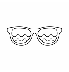 Sunglasses for surfing icon outline style vector