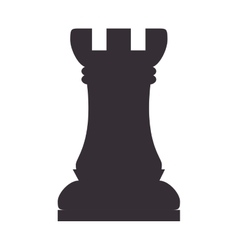 Chess piece rook vector
