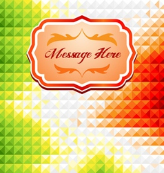 Green and red mosaic background vector image