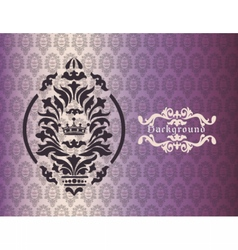Vintage background with damask ornaments vector