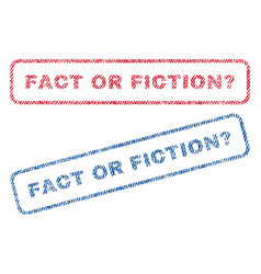 Fact or fiction question textile stamps vector
