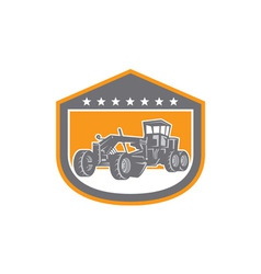 Road grader shield retro vector