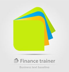 Finance trainer business icon vector