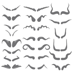 horns silhouettes vector image