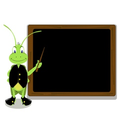 Cricket and blackboard vector