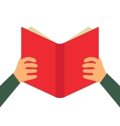 Reading book flat icon vector