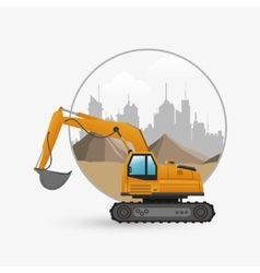 Under construction design truck concept repair vector