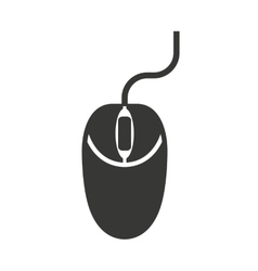 mouse computer isolated icon design vector image