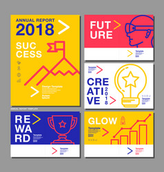 annual report design template 2018 business vector image vector image