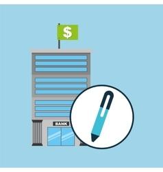 Bank concept service financial vector