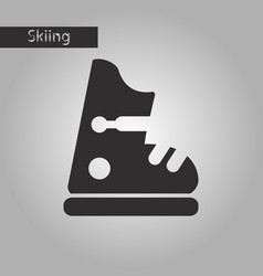 Black and white style icon ski boots vector