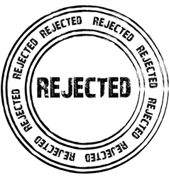 Black stamps for rejected vector image vector image