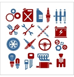 Car part icons set on a light background vector image
