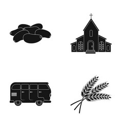 Culinary religion and other web icon in black vector