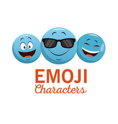 emoji chat characters vector image vector image