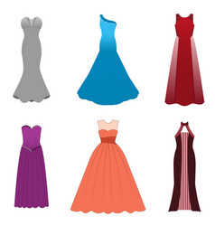 Fashionable dresses for graduation ball party vector