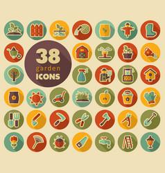 Garden farm flat icon vector
