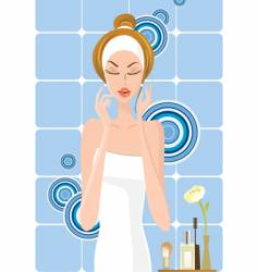 Girl bath design vector