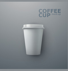 Paper coffee cup mock-up vector
