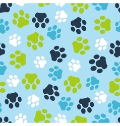 Pattern seamless of background animal blue vector