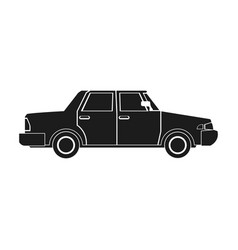 sedan car vehicle transport image pictogram vector image vector image