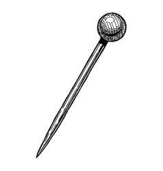 sewing pin vector image vector image